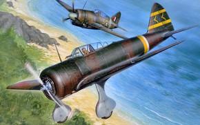 Picture Japan, fighter, UK, Nakajima, Ki-27, Stanislav Hayek, Buffalo, Decision, F2А, Brewster