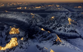 Picture Alaska, Winter, Sunrise, Mountains