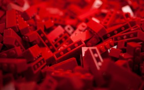 Picture Red, Lego, Macro, Toys