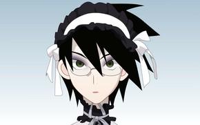 Picture glasses, the maid, Sayonara Zetsubou Sensei, Farewell bleak Sensei