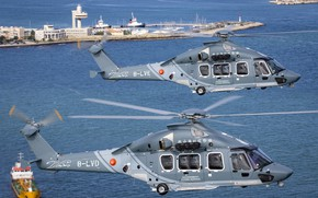 Picture Hong Kong, Port, Helicopter, Ships, Airbus, Airbus Helicopters, Airbus Helicopters H175, H175