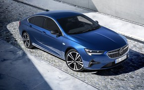 Picture auto, light, blue, Opel, Insignia Grand