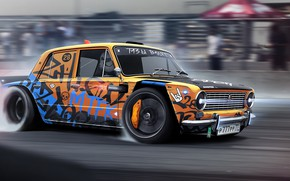 Picture Auto, Machine, Drift, Rendering, Vaz, Attack, DizePro, Dmitry Strukov, by Dmitry Strukov, Dize_pro, Drift Monster, …
