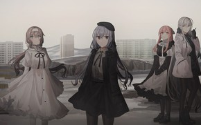 Picture the sky, the city, girls