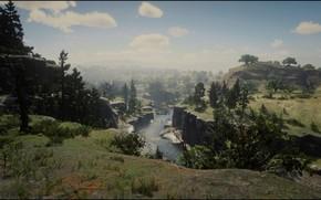 Picture HDR, Nature, Landscape, Rocks, Stone, Red Dead Redemption 2, RDR2