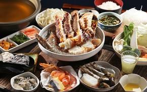 Picture shrimp, seafood, serving, cuts