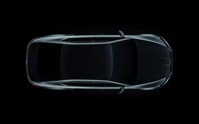 Picture background, sedan, dark, the view from the top, Skoda, Skoda, 2015, Superb