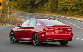 Picture red, Honda, Accord, sedan, body, 2018, four-door, 2.0T Sport