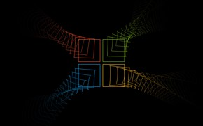 Picture abstract, Microsoft, logo, lines