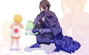 Picture toy, dinosaur, guy, Naruto, Naruto, child, Sasuke Uchiha, Naruto Uzumaki