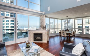 Picture San Diego, penthouse, interior, new downtown