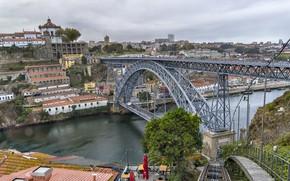 Picture bridge, the city, Portugal, Port