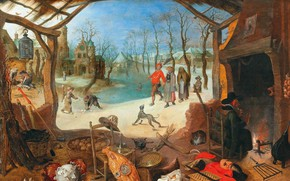 Wallpaper Flemish Baroque painter, Sebastian Vranckx, Sebastian Vranx, An Allegory of Winter, Flemish painter and engraver ...
