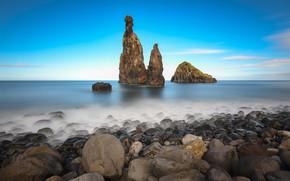 Picture rock, stones, coast, Madeira