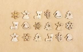 Picture tree, new year, figures, Sosiukin