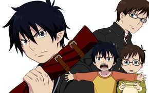 Picture background, guys, brothers, boys, Ao no Exorcist, Rin, Yukio, blue exorcist
