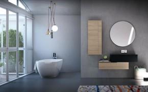 Picture design, room, interior, bathroom