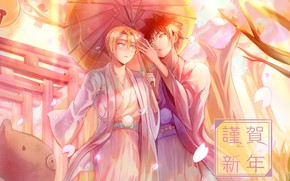 Picture umbrella, Japan, guys, In the search for the divine recipe, Shokugeki No Soma