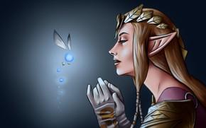 Picture ball, elf, light