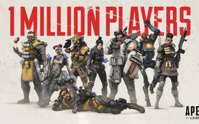 Picture weapons, characters, Apex Legends