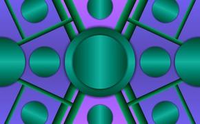 Picture circles, gradient, figure