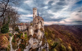 Picture autumn, landscape, mountains, nature, castle, Germany, Germany, Lichtenstein, Lichtenstein
