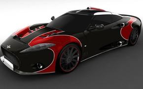 Picture Spyker, sports car, super Kar, имиджевая модель, приборы Chronoswiss, 532 л.с., 600 Нм, Spyker C8 …