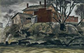 Picture 1932, Charles Ephraim Burchfield, Rock Creek Bank