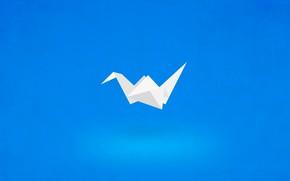 Picture paper, blue, origami, fon, origami