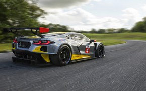 Picture machine, the sky, movement, Chevrolet, sports car, track, C8.R