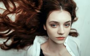 Picture tenderness, sponge, the beauty, curls, Juliana Naidenova