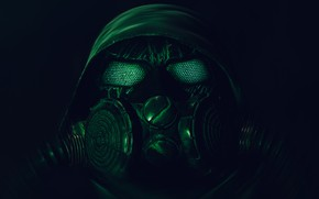 Picture background, gas mask, Stalker, Chernobylite