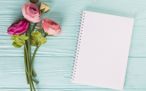 Picture flowers, bouquet, Notepad