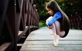 Picture girl, long hair, beautiful, pretty, brunette, attractive, handsome, ballet dancer, little ballerina