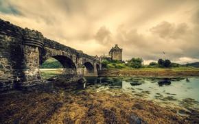 Picture bridge, castle, Scotland, Dornie