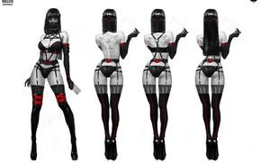Picture Girl, View, Girl, Brunette, Stockings, Feet, Heels, Tattoo, Legs, Art, Art, Brunette, Respirator, Garter, Heels, …