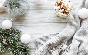 Picture snow, decoration, Christmas, mug, New year, new year, Christmas, vintage, winter, snow, sweater, cocoa, cookies, …