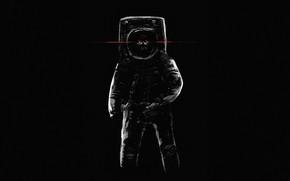 Picture Minimalism, Skull, Astronaut, Eyes, Background, Astronaut, Art, Space, Death, Illustration, Science Fiction, Cosmonaut, Berner JC, …