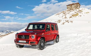 Picture winter, auto, snow, Mercedes-Benz, AMG, G-class, G 350