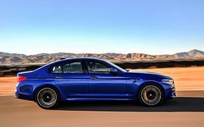 Picture speed, BMW, profile, sedan, BMW M5, 2017, M5, F90