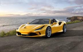 Picture machine, water, lights, Ferrari, sports car, drives, Spider, Ferrari F8