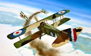 Picture smoke, France, fighter, Fokker, The first World war, SPAD XIII
