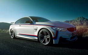 Picture coupe, sports car, BMW M4, white car, Coupe M Performance