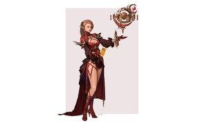 Picture Girl, Fantasy, Beautiful, Art, Style, Magic, Elf, Minimalism, Characters, Figure, Final Fantasy 14, Astrologian, bom …