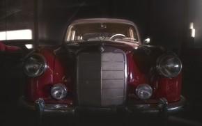 Picture machine, background, Mercedes Benz 300 S Coupé