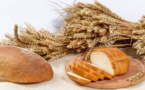 Picture bread, ears, muffin, cakes, baton