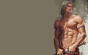 Picture background, warrior, male