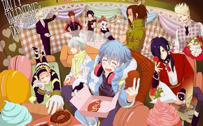 Picture art, sweets, guys, Dramatical Murder, dramatic murder