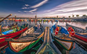 Picture river, boats, Portugal, Portugal, Aveiro, Aveiro