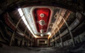 Picture interior, lamp, hall